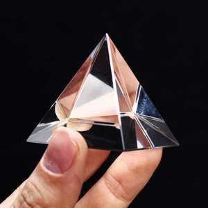 Triangular 100mm limpar prismas de vidro óptico pirâmide de cristal cura prisma ciência óptica ensino espectro de luz material ferramentas