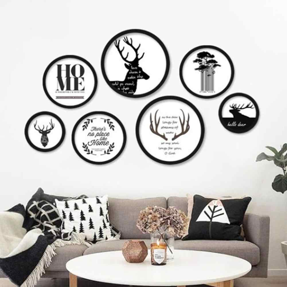 Modern Round Shaped Free Combination Photo Frame Wall Hanging No-trace Photo Pictures Frame Home Art Decoration Dropshipping