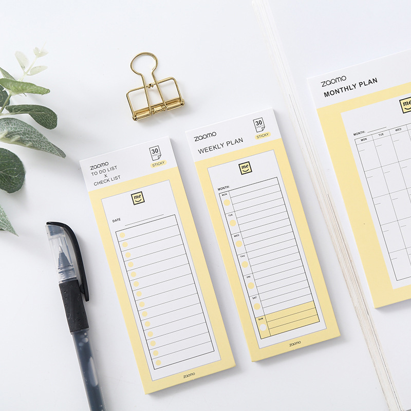 30Sheets Simple Week Month Planner Stickers Note Pads To Do List Memo Pads For Kids Girls Gift School Office Supplies Stationery