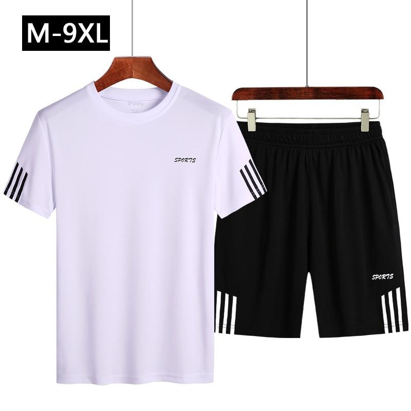 46410baa5 Para hombre 2019, conjunto de dos piezas Top Shorts sudadera hombres  chándal Trainingspak Mannen ...