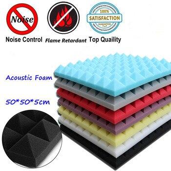4 шт. 500X500X50 мм пена для звукоизоляции акустическая пена регулирование звука студия поглощения комнаты плитка полиуретановая пена