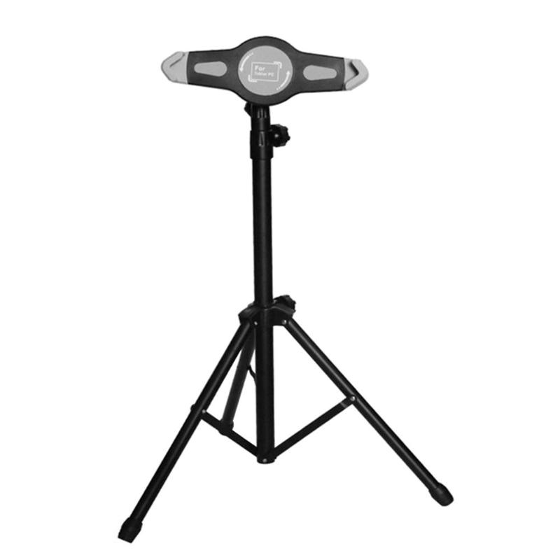 Adjustable Tripod Floor Stand Tablet Holder Bracket 7-12 inch Tablets Accessories pad holder for ipad stand for samsung tablet