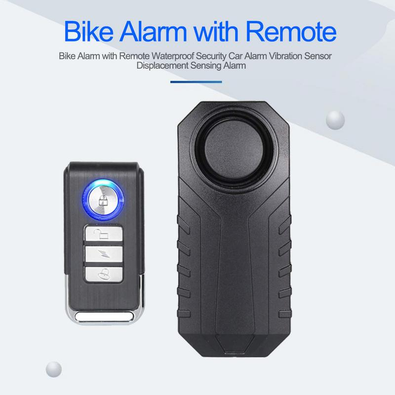 113dB Wireless Anti-Theft Vibration Motorcycle Bicycle Waterproof Security Bike Alarm With Remote BB55 Sensing Alarm113dB Wireless Anti-Theft Vibration Motorcycle Bicycle Waterproof Security Bike Alarm With Remote BB55 Sensing Alarm