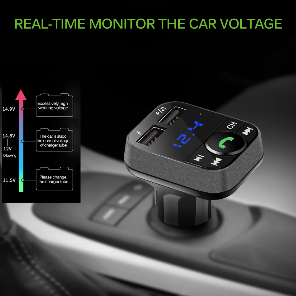 Verarbeitung In Hingebungsvoll Auto Mp3 Player Bluetooth Hands Free Car Kit Fm Transmitter Lcd Mp3 Auto Mp3 Player Auto Ladegerät Exquisite