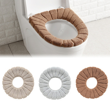 Washable Bathroom Toilet Seat Filling Soft Warmer Mat Cover Pad Cushion Seat Covers