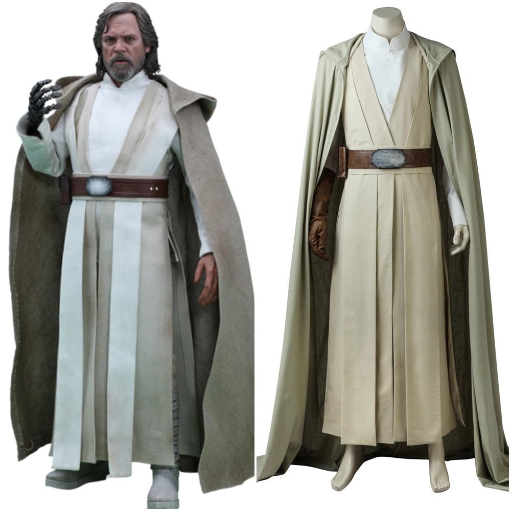 Luke Skywalker Last Jedi Costume Star Wars Cosplay Custom Made