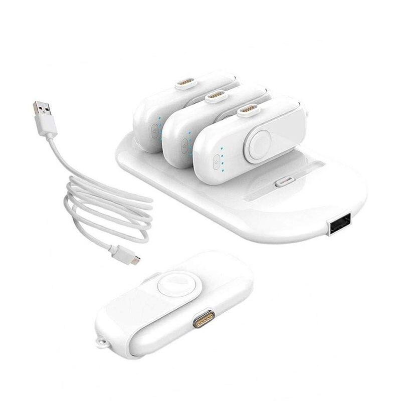 Pad Doigt 5 Paquets De Charge Powerbank attraction Magnétique batterie externe chargeur pour iphone Android Type C Moblie Téléphones