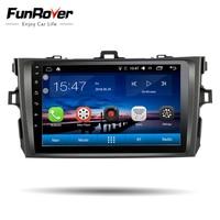 Funrover IPS 2 din Android 8.0 автомобиля консоль автомобильное радио для Toyota Corolla 2007 2008 2009 2010 2011 Автомобильный DVD GPS навигации