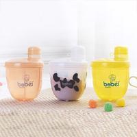 Мультяшная коробка для хранения детского питания, портативный дозатор для молока и порошка, органайзер, кухонное для специй, контейнер для ...