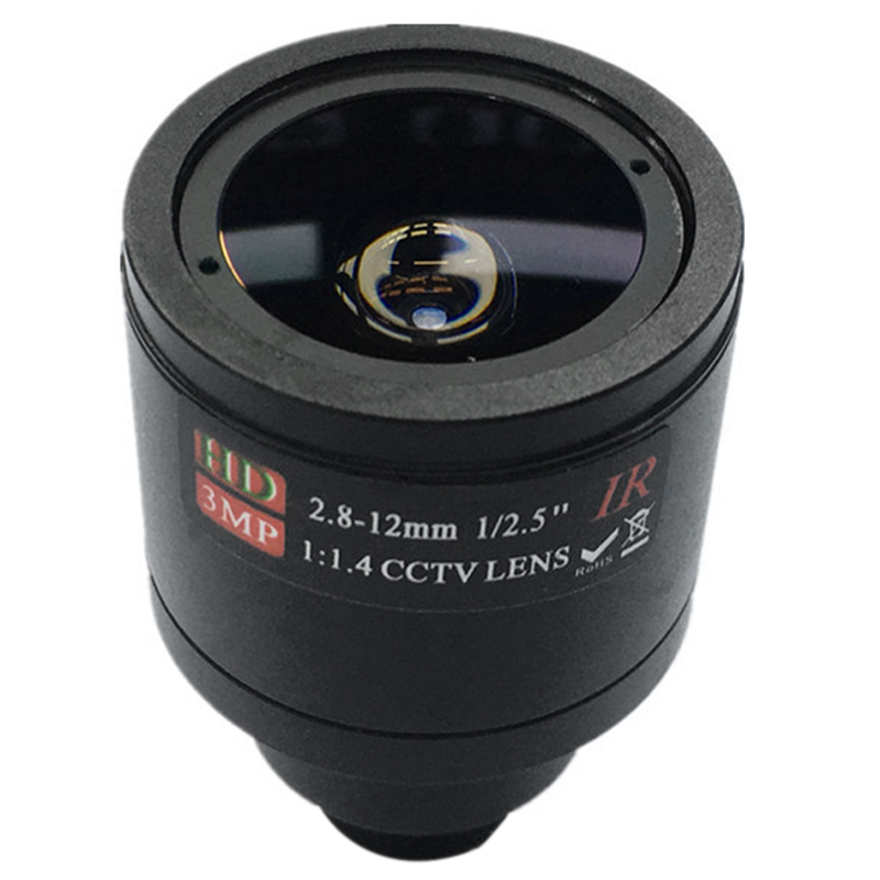 HD CCTV Lens 3.0MP M12 2.8-12mm Varifocal Cctv IR HD Lens,F1.4,manual Focus Zoom