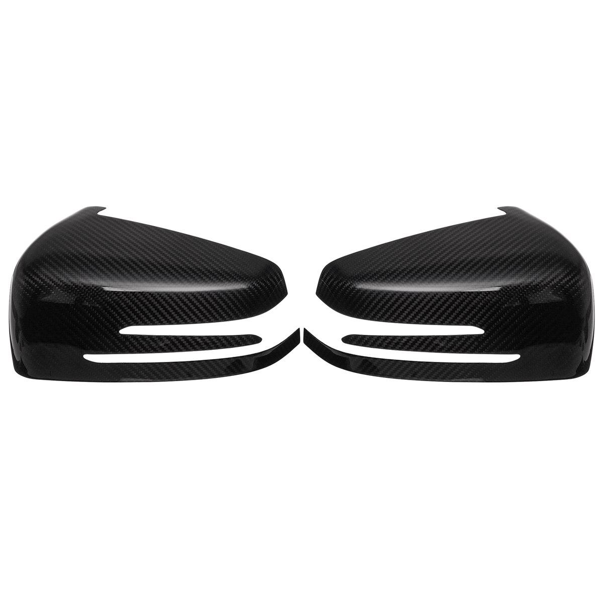 2 pièces véritable carbone Fieber pour Benz W204 C207 W212 C207 A207 W218 W221 A B C E classe noir rétroviseur couvercle du rétroviseur