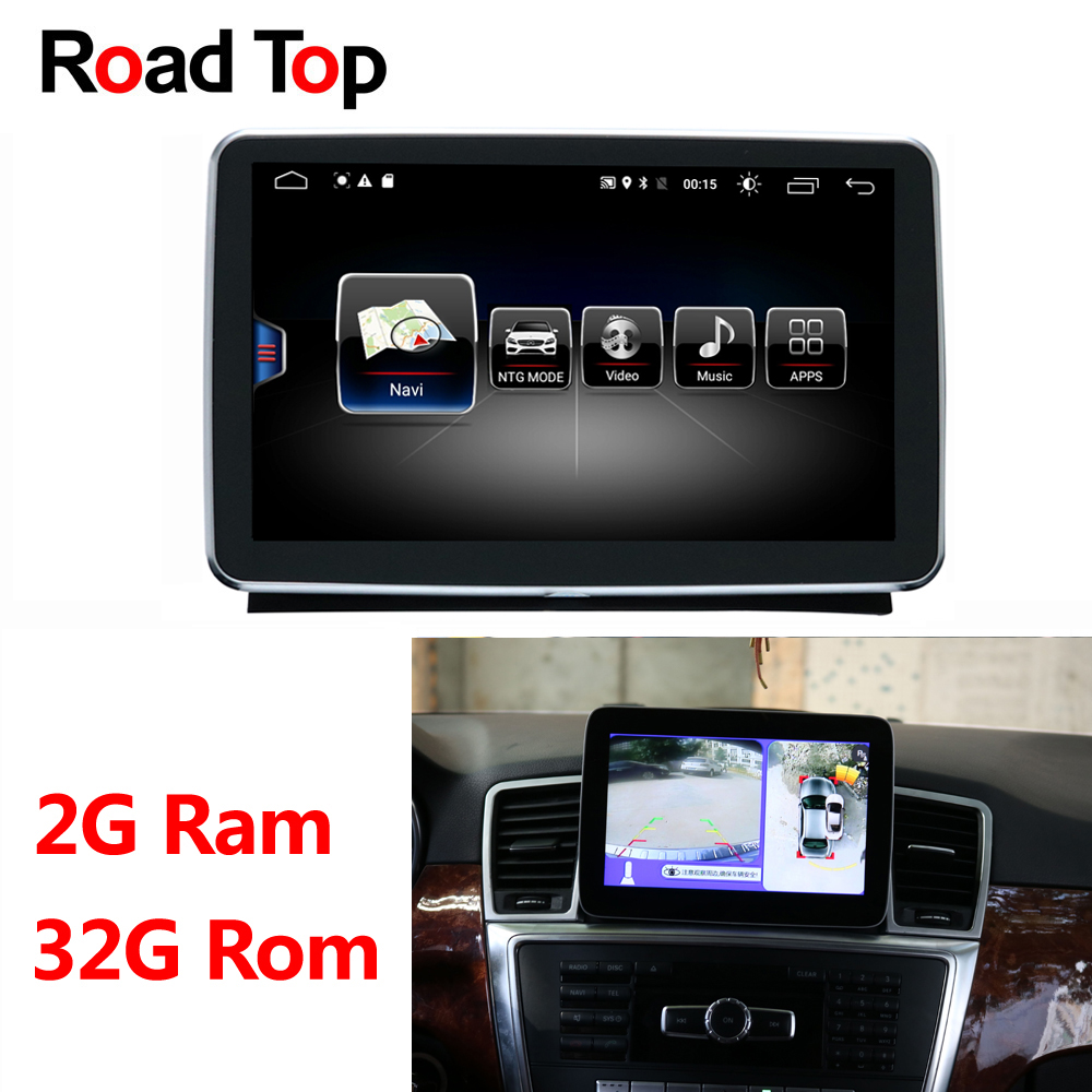 Android Display 2 + 32g per Mercedes Benz ML W166 GL X166 GLE Auto Radio Multimedia Monitor GPS unità di Testa di navigazione Bluetooth