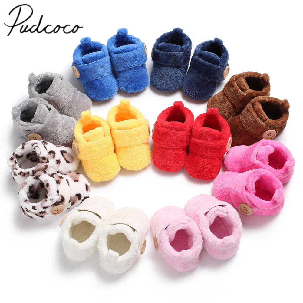 First Walkers Socks Boots Slipper Shoes Furry Newborn Baby-Girl Infant 0-18-Months Cartoon