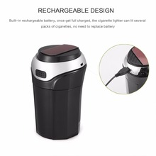 Can Led-Light Car-Cup-Holder Car-Trash for 3-In-1 Removable