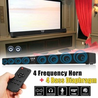 5.1 Channel bluetooth Soundbar Speaker 4 Horn HIFI Sound Bar Virtual Surround Sound Full range Speaker Remote Home TV Theater