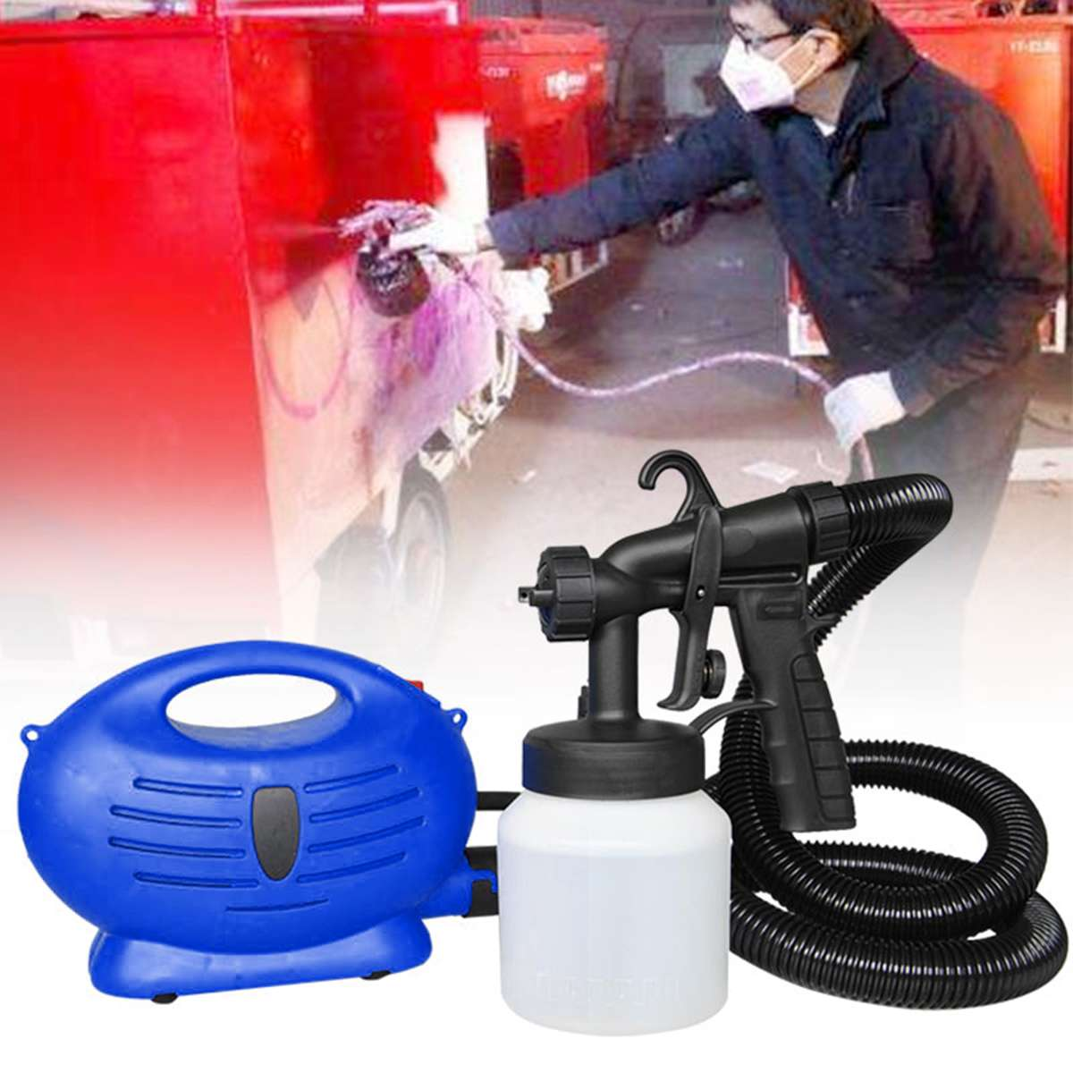 Electric Paint Spray Gun Automatic High Pressure Sprayer Paint Tool For Painting Car Wood Furniture garden tool Electric coating metal hose nozzle high pressure water spray gun sprayer garden auto car washing
