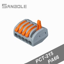 PCT-215 Wire Connector Fast Connection Terminal blocks 5 Hole Universal 222-415 compact wire wiring Pin