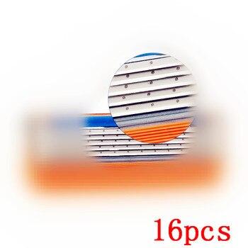 16 pçs/lote Melhor Lâmina de Barbear para homens de Barbear Compatível para Gillettee Fusione ou Mache 5 Máquina Para Homens Enfrentam Cuidados