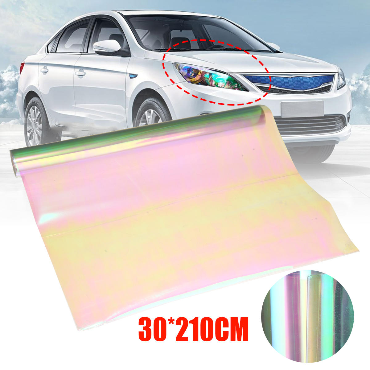 Image 2 - 30 x 210cm Auto Car Light Headlight Taillight Tint Vinyl Film Sticker Easy Stick Motorcycle Whole Car Decoration-in Car Stickers from Automobiles & Motorcycles