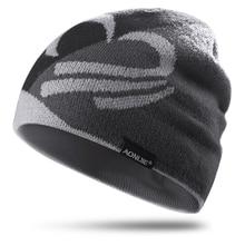 Теплые ветрозащитные осенне-зимние шапки для бега Лыжный спорт Велоспорт теплая ветрозащитная вязаная шапочка для бега шляпа дышащая для мужчин и женщин