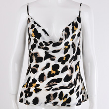 Women Strappy V Neck Leopard Sexy Vest Tops Backless Cami Party T Shirt Camisole lace panel strappy cami bandeau
