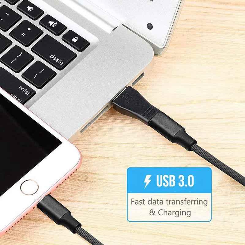 2 шт. USB-C USB 3,1 Type C Женский к USB 3,0 Мужской адаптер конвертер Поддержка синхронизации данных и зарядки