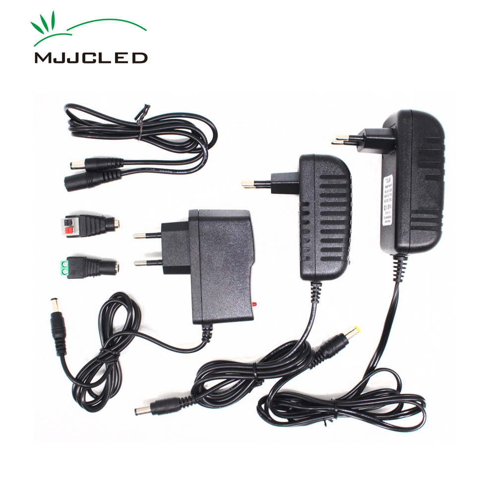 Chargers Consumer Electronics Dependable Eu Plug Adapter Ac 100-240v To Dc 12v 2a Power Supply For 3528 5050 Strip Led Transformer Practical Quality