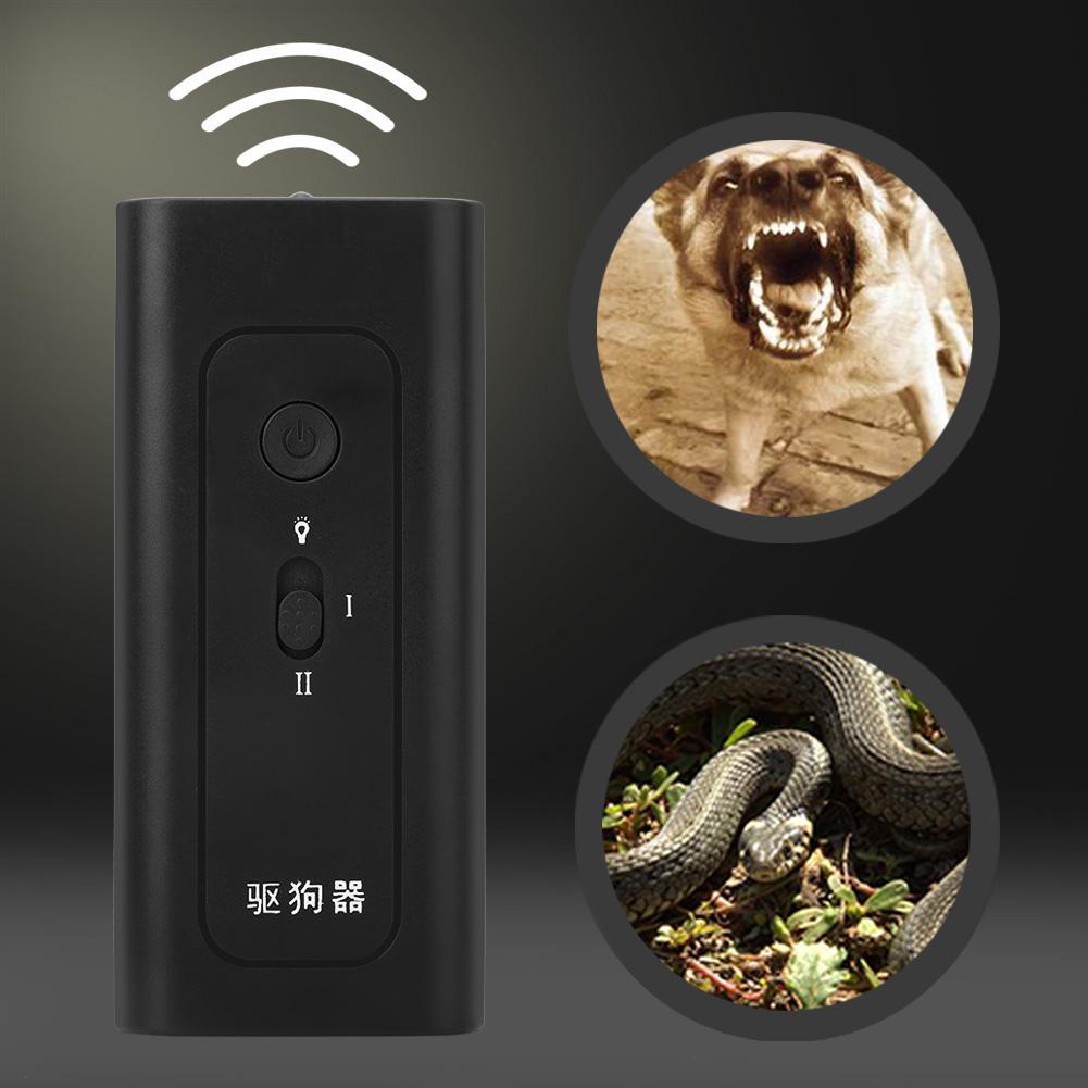 Black Ultrasonic Dog Repeller Anti Barking Stop Bark Training Device Mouse Snake Cat Portable Pest Control
