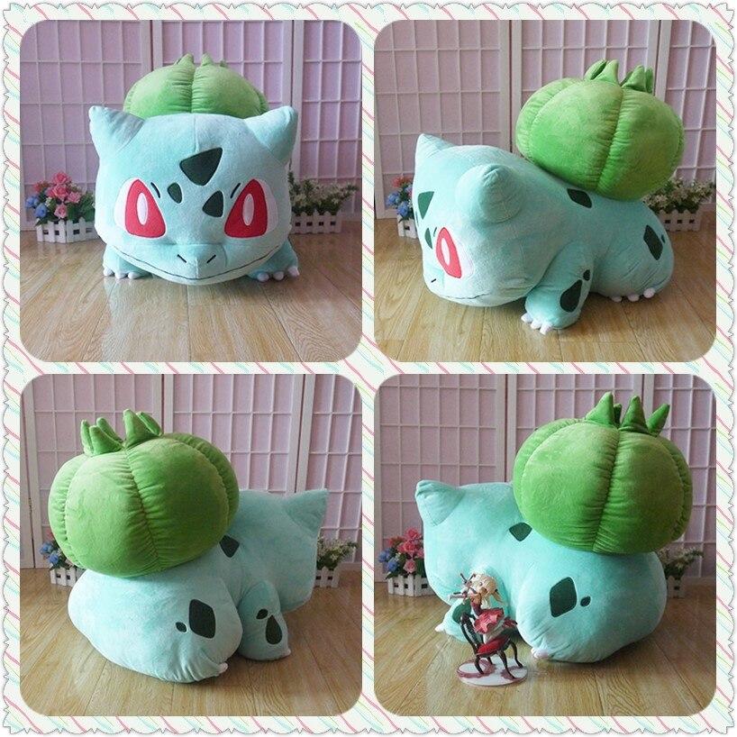 60cm Bulbasaur plush toy Game Bulbizarre figure amime plush doll cosplay big soft pillow free shipping