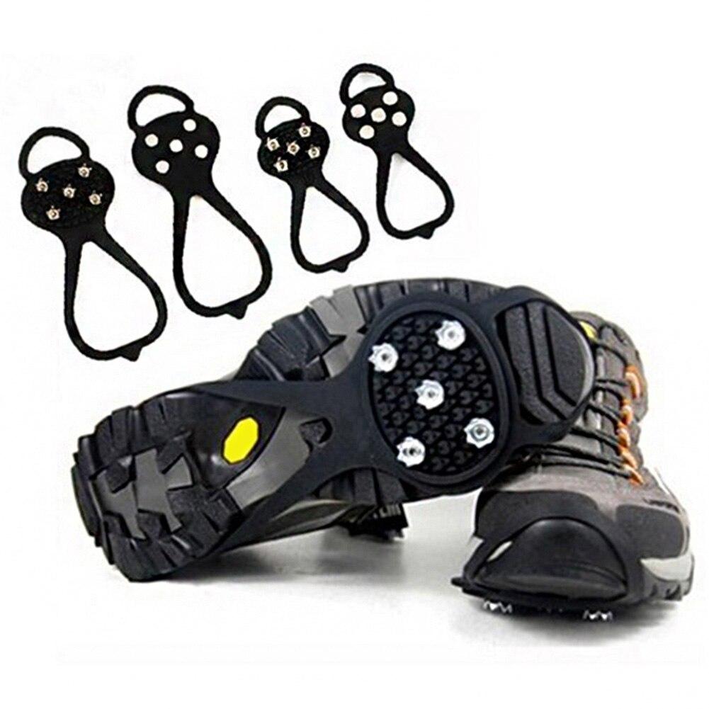 1 Paar Eis Greifer Eis Spikes Für Schuhe Anti-skid Schnee Eis Klettern Schuh Spikes Grip Steigeisen Stollen Überschuhe