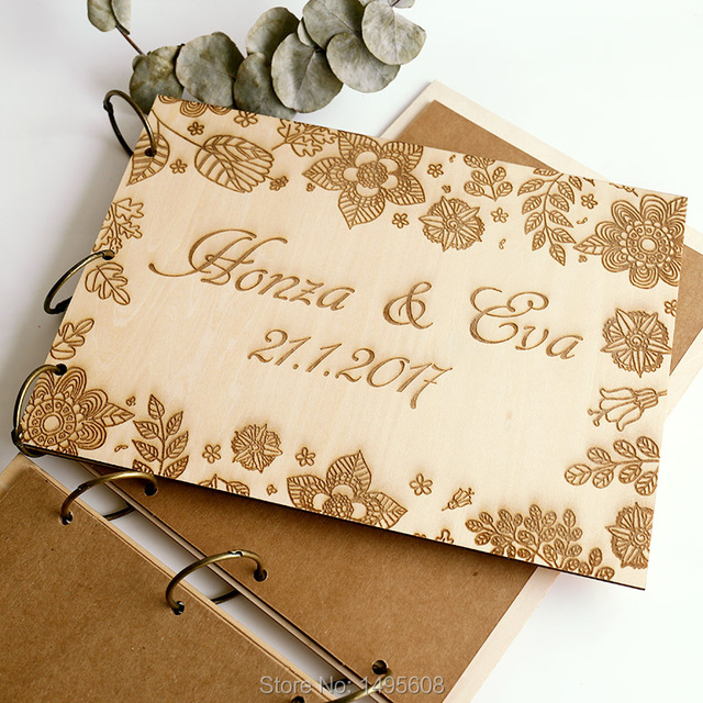 Personalisierte Holz Hochzeit Gästebuch Garten Hochzeit Zeichen In