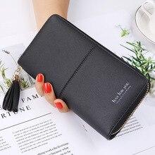 Купить с кэшбэком 2019 New Fashion Women Wallets PU Zipper Wallet Women's Long Design Purse Two Fold More Color Clutch