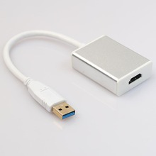 1pc USB 3.0 to HDMI Video Graphic Adapter Converter Cable Supports PC HDTV HD 1080P Mayitr