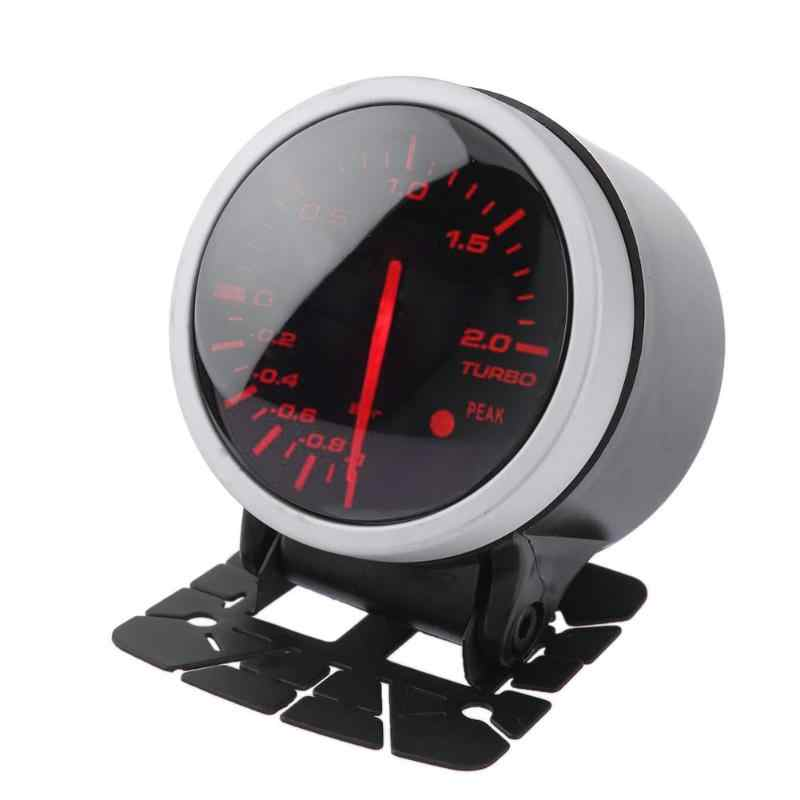 Universal 60mm 2.5in  aluminum alloy Racing Car Turbo Boost Gauge White+ Red Light Meter with Sensor  red and white light color