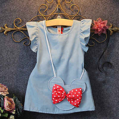 dd2dcf7335b46 Children's Wear 2018 New Baby Dresses Pattern Print Lemon Cartoon Birthday  Dress Female Baby Summer Clothes
