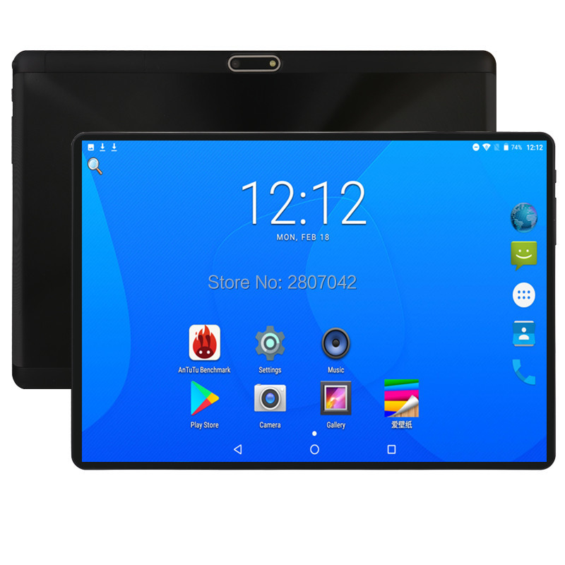 Super Fast 10 Inch Tablet Octa Core Android 8.0 OS 4GB RAM 64GB ROM 1280X800 IPS 2.5D Glass Screen Tablets 10 10.1 Media Pad