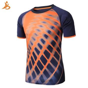 Quick Dry Sport T-shirt Men's Tank Top Outdoor Training Running T-shirts Men Short Sleeve Printing Shirts Rashgard Soccer Jersey 1