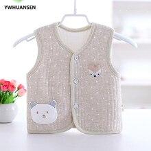 YWHUANSEN/сезон весна-осень; теплая куртка для маленьких девочек; мягкий жилет для маленьких мальчиков; милая Одежда для девочек с героями мультфильмов; боди; Одежда для младенцев