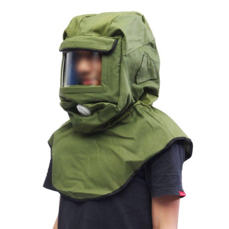Anti Wind Dust Protective Tool Blasting Hood Sand Abrasive Sandblaster Cap Mask