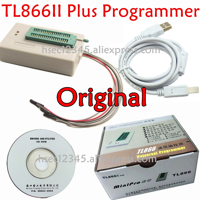 Newest version XGecu TL866II Plus usb universal programmer Russia software Minipro TL866 TL866CS / AFlash EPROM NAND programmer-in Integrated Circuits from Electronic Components & Supplies