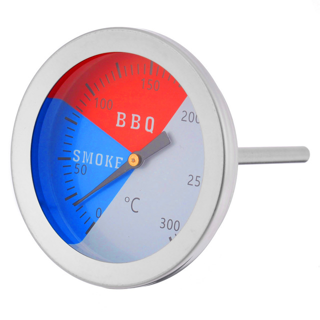 Stainless Steel Thermometer BBQ Smoker Grill Thermometers 300 Degrees Temperature Gauge Mayitr Barbecue Thermometer