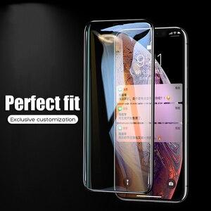 Image 2 - YOYIC 9D 炭素繊維フレーム Iphone 6 7 8 プラススクリーンプロテクター強化 iphone に × XS XR Xs 最大ガラス