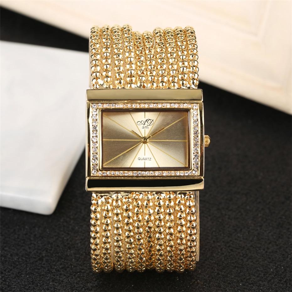 Elegant Womens Watches Quartz Tassel Steel Watch Band Creative Rectangle Lady Wristwatches reloj para mujer New Arrival 2019