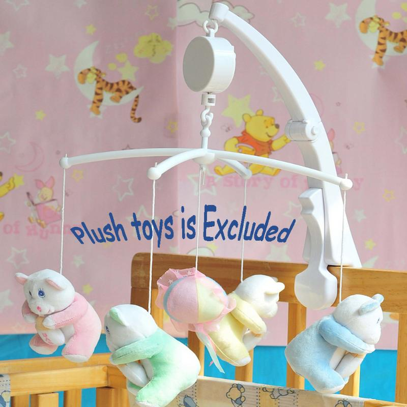Baby Music Box Rotary Mobile Crib Bed Clockwork Movement Mobile Musical Newborn Bell Crib Holder Arm Bracket Wind-up Rattle Toys