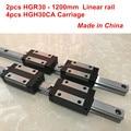 HGR30 linear guide: 2 stücke HGR30 1200mm + 4 stücke HGH30CA lineare block wagen CNC teile-in Linearführungen aus Heimwerkerbedarf bei