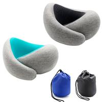 U shaped Neck Pillow Memory Foam Car Travel Home Pillow Neck Head Support Office Cushion Comfortable Pillow With Magnet Buckle