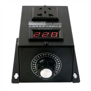 Image 3 - 10000W High power Silicon Electronics Voltage Regulator Machinery Electric Variable speed controller  0V 220V