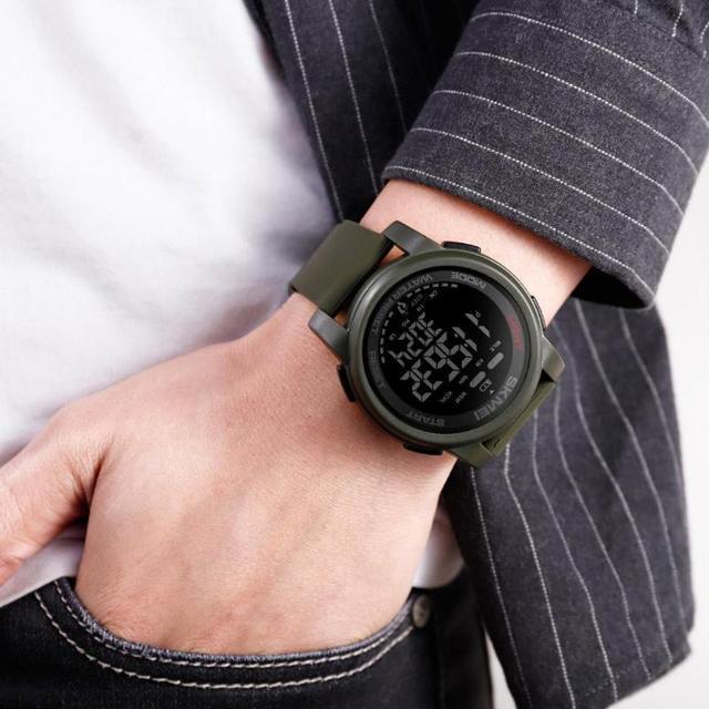 d9b77a91bc38 Oferta Azul del reloj SKMEI para LCD Digital relojes de los hombres ...