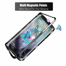 The second generation mobile cell phone 360 cover metal bumper magnetic Adsorption for huawei nova 3