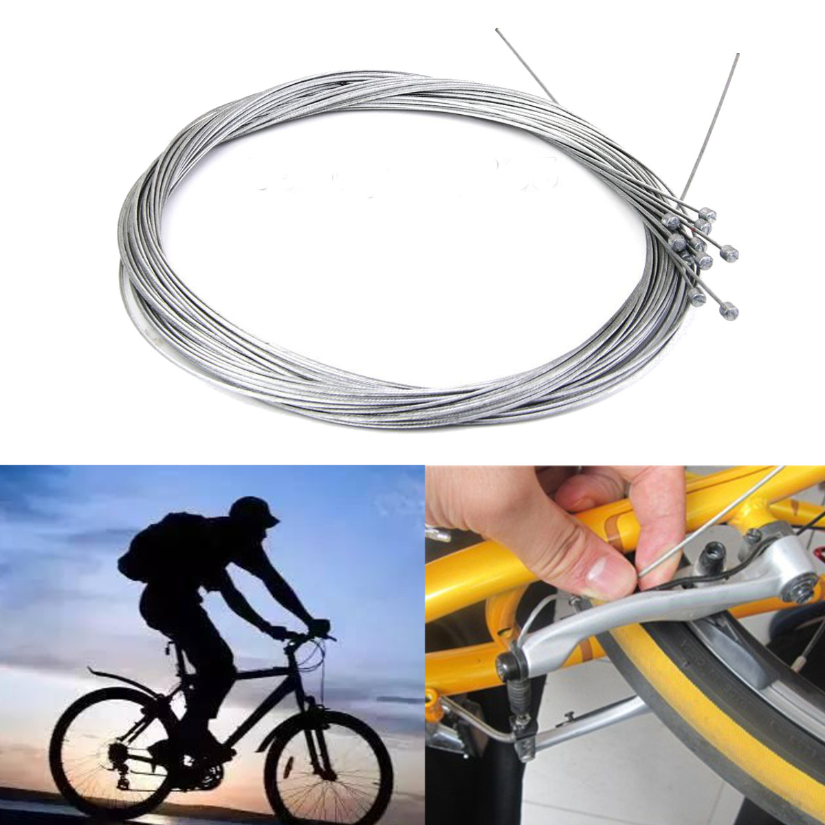 10pcs Road Bike MTB Gear Bicycle Brake Line Shifter Core Inner Cable Wire 2M New